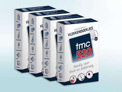 4 x doosje TMC 520 vlekkendoekjes (5x doekje/doosje)